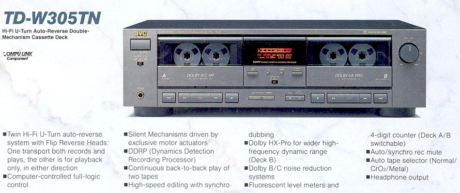 specs for JVC TD-w305 - Tapeheads Tape, Audio and Music Forums